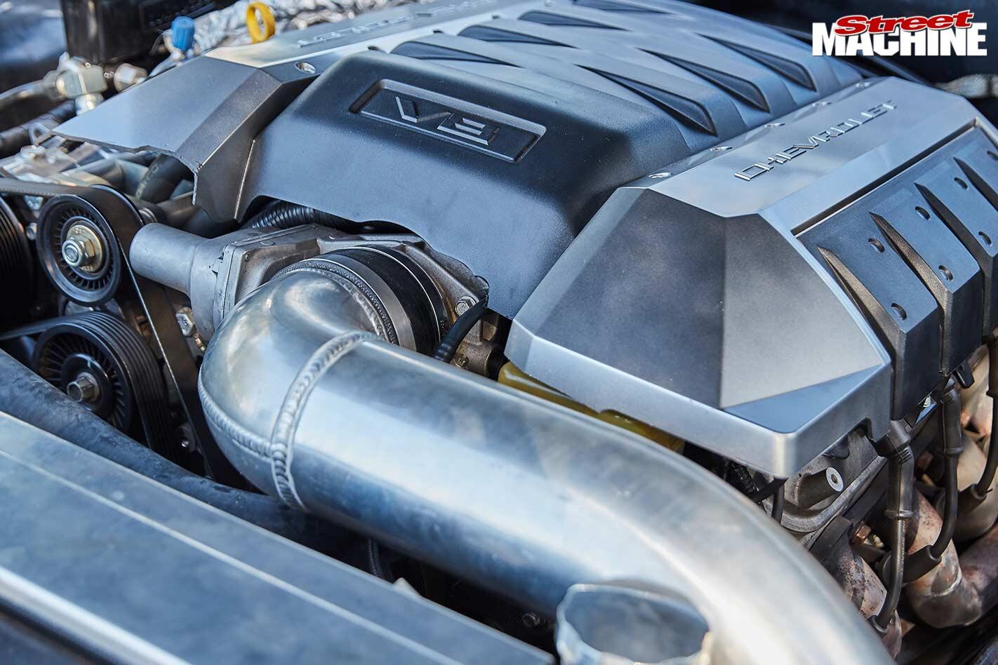 Chev Bel Air engine bay