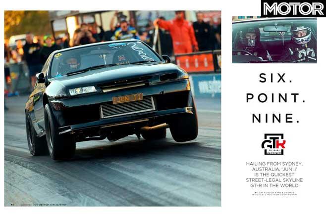 MOTOR September 2019 Issue JUN II Skyline Drag Car Jpg