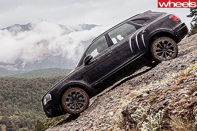 Bentley -Bentayga -driving -down -hill