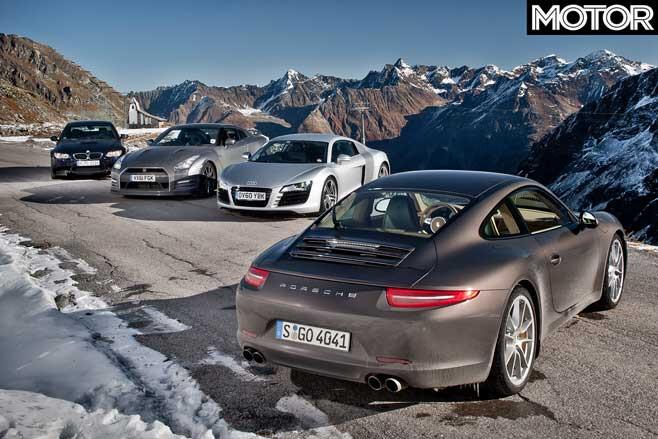 2012 Porsche 911 Vs Audi R 8 Vs BMW M 3 Vs Nissan GT R Specification Comparison Jpg