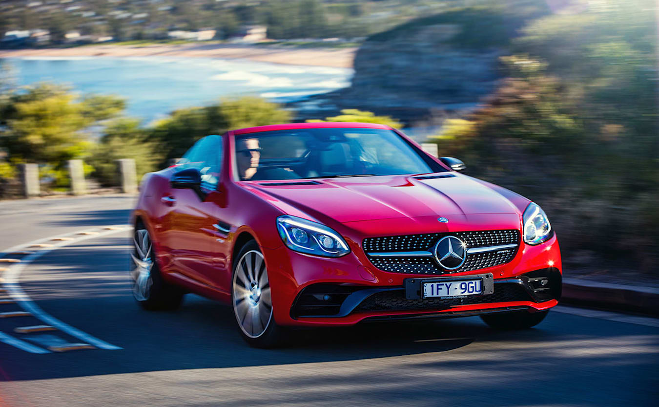 Mercedes-Benz SLC driving