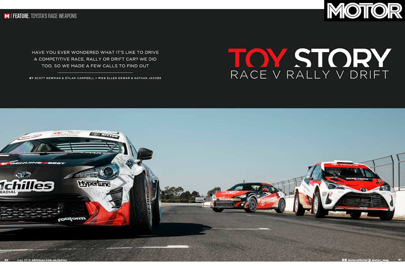 MOTOR Magazine May 2019 Issue Preview Toyota Yaris AP 4 Rally 86 Racing Series 86 Drift Car Feature Jpg