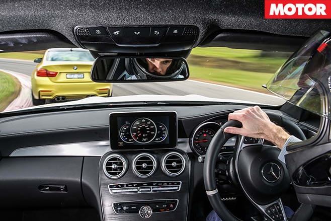 Mercedes -AMG-C63-S-Coupe -vs -BMW-M4-Competition -drive