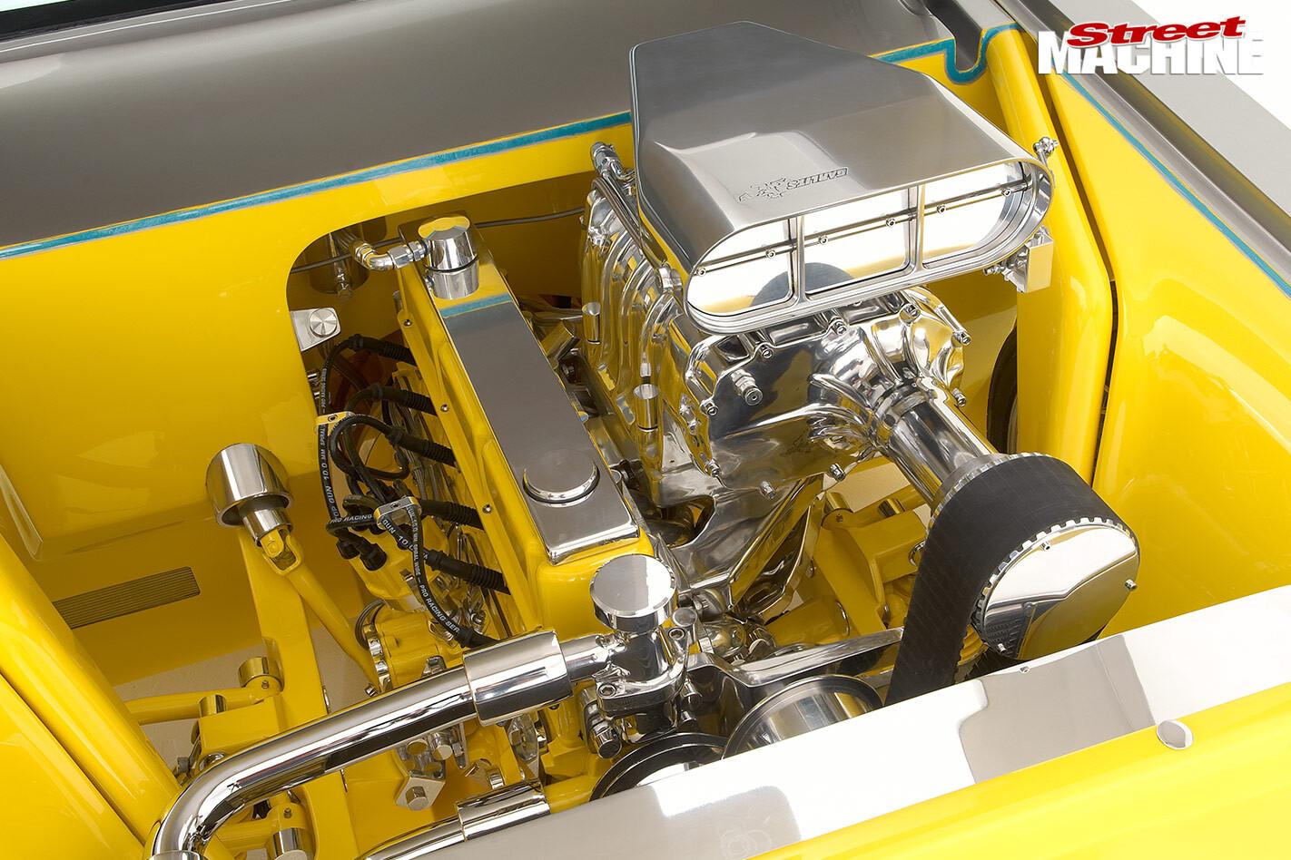 Holden HR ute engine bay