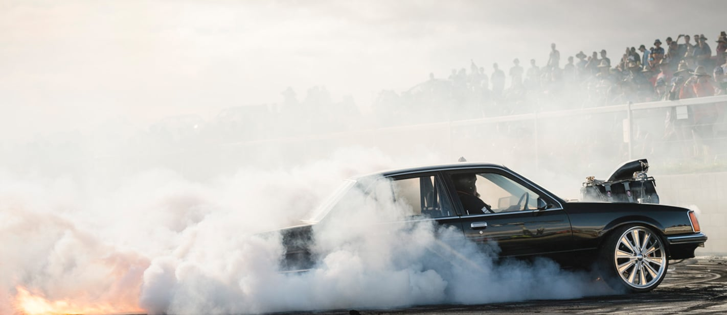 VC Commodore BLWNVC burnout 1 nw