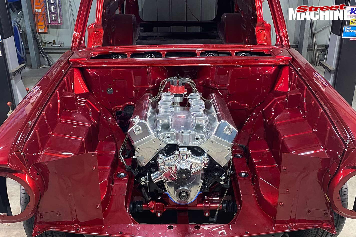 Holden EH van engine bay