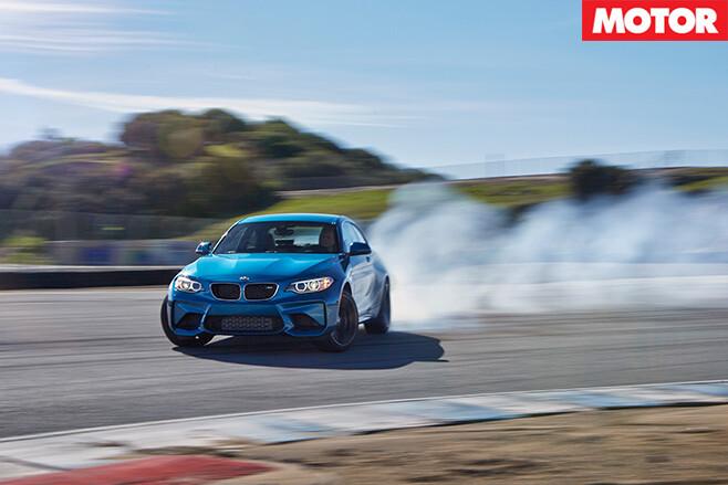 BMW M2 front drifting
