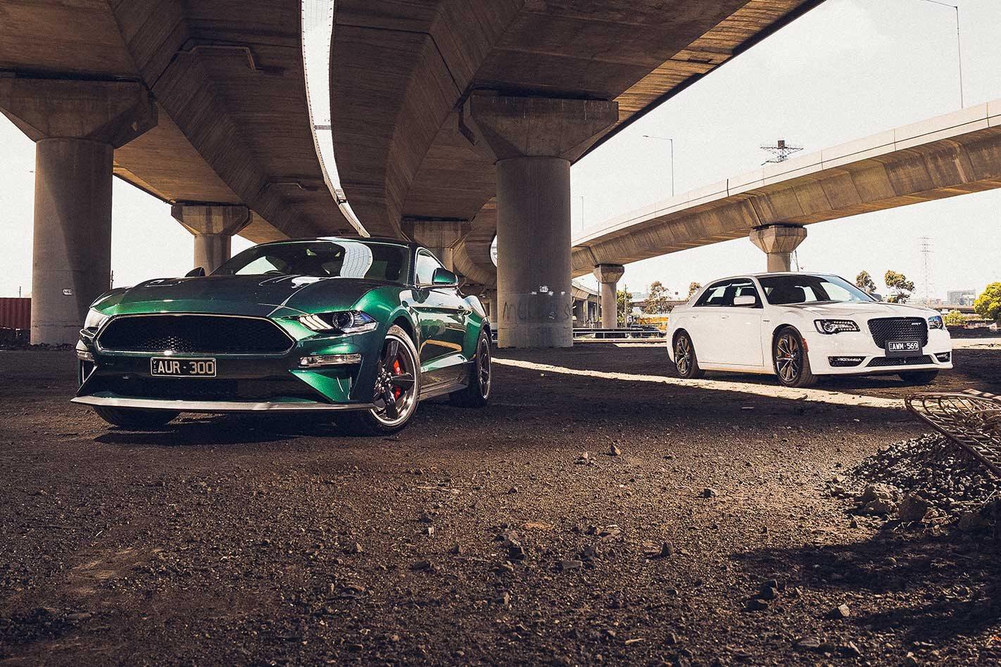 2019 Ford Mustang Bullitt vs Chrysler 300 SRT Gallery
