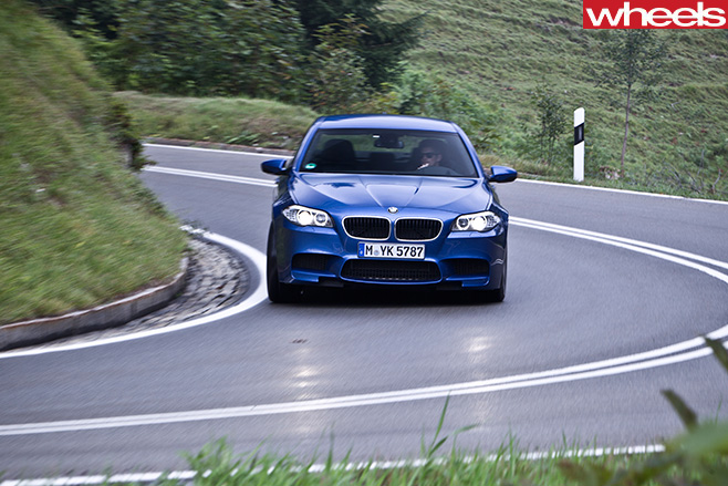 BMW-M5-driving -in -Germany -driving -front