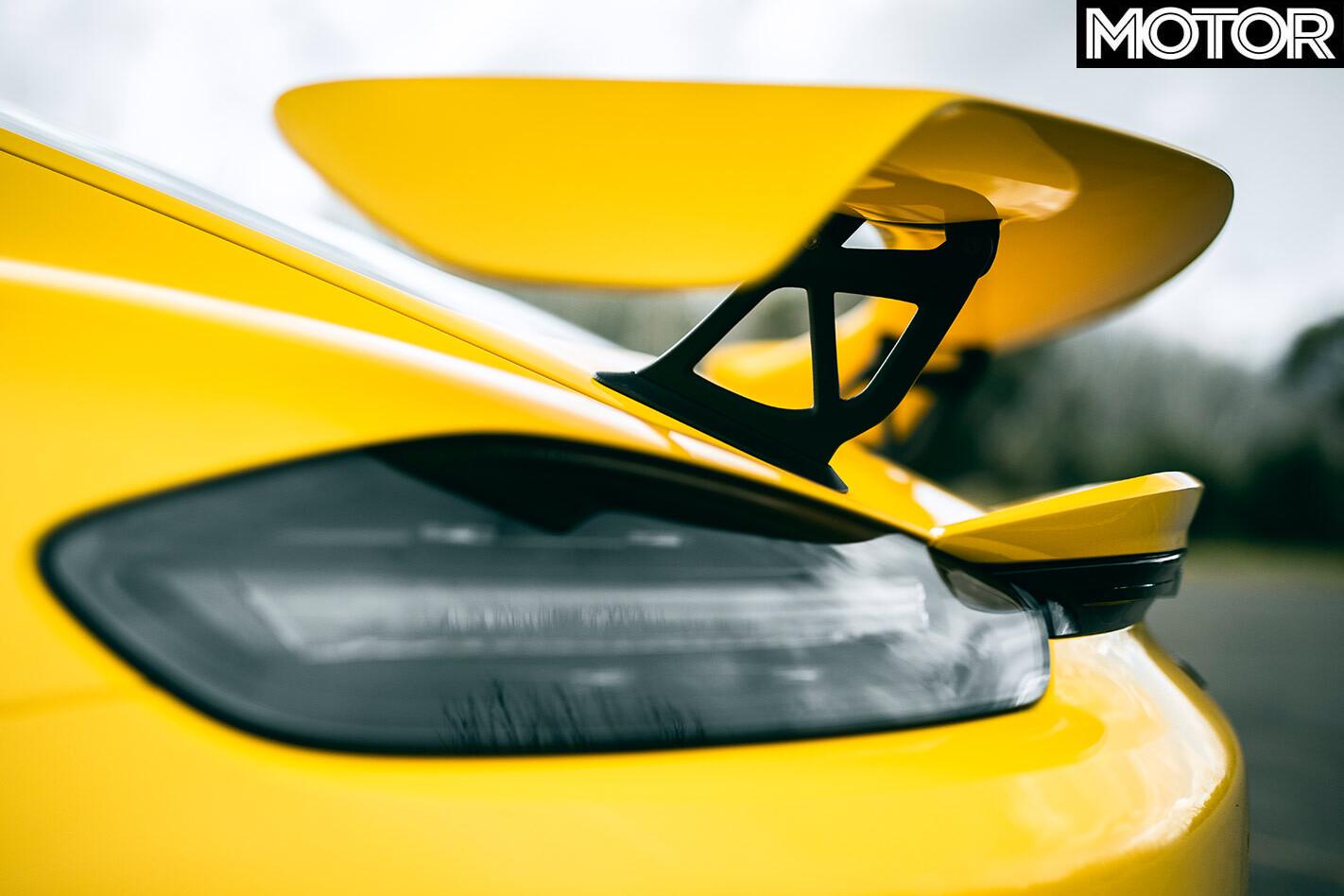2020 Porsche Cayman GT4 rear wing