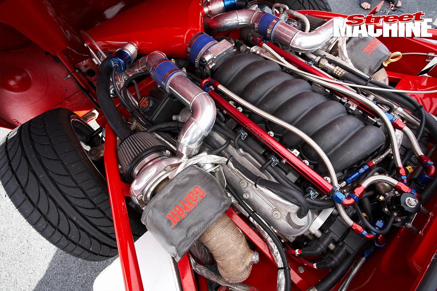 E-type -Jaguar -engine -bay