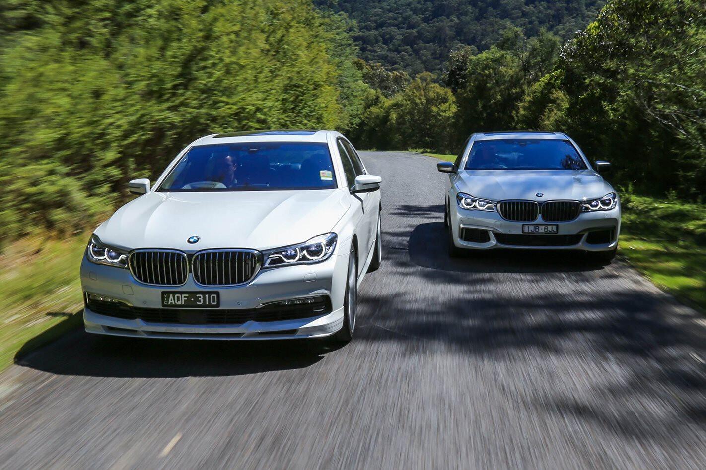BMW M70 v Alpina B7