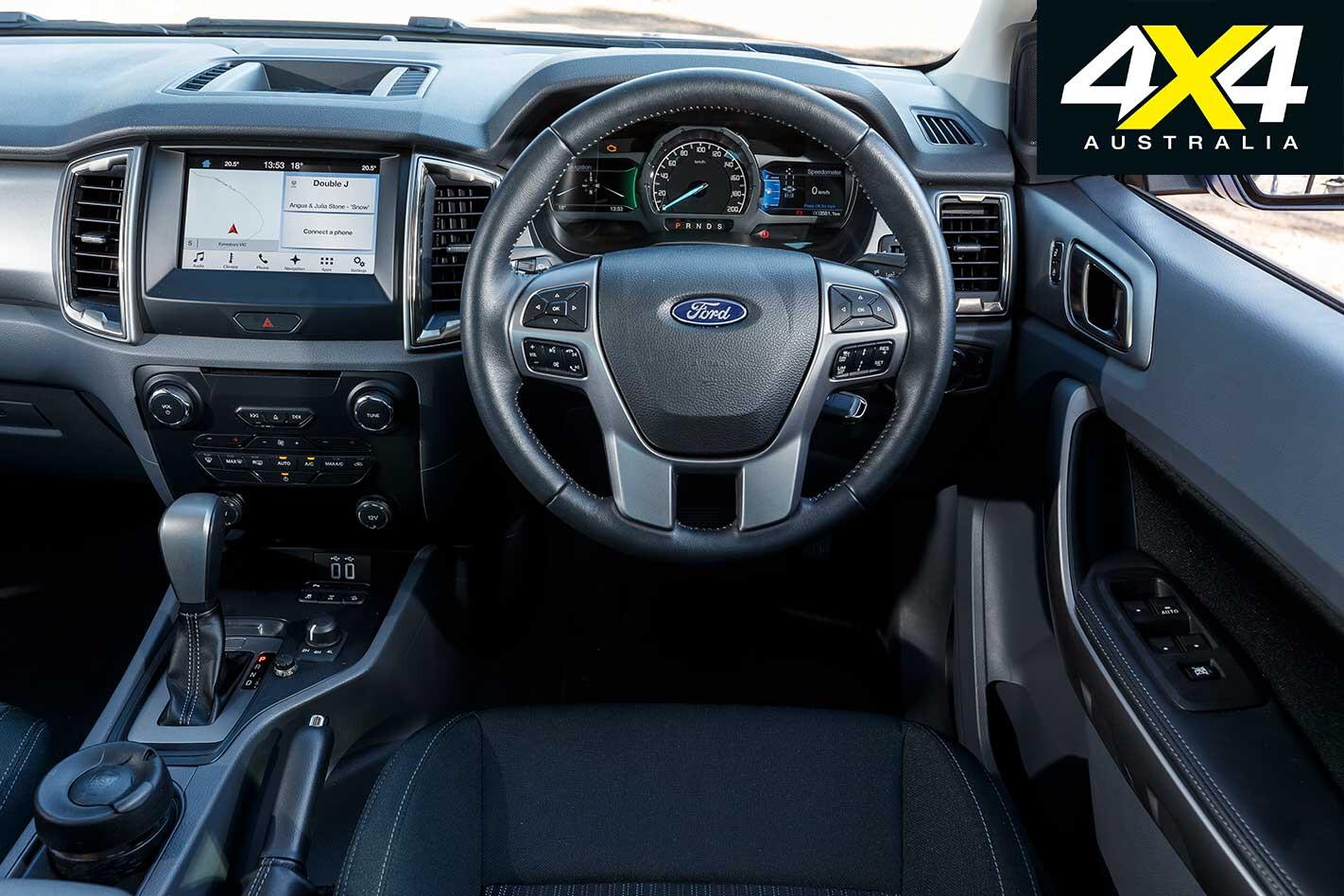 2018 Mega Ute Test Ford Ranger Xlt Dashboard Jpg