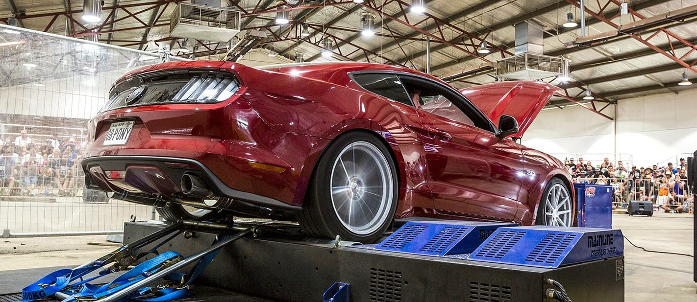 Ford Mustang On Dyno Jpg