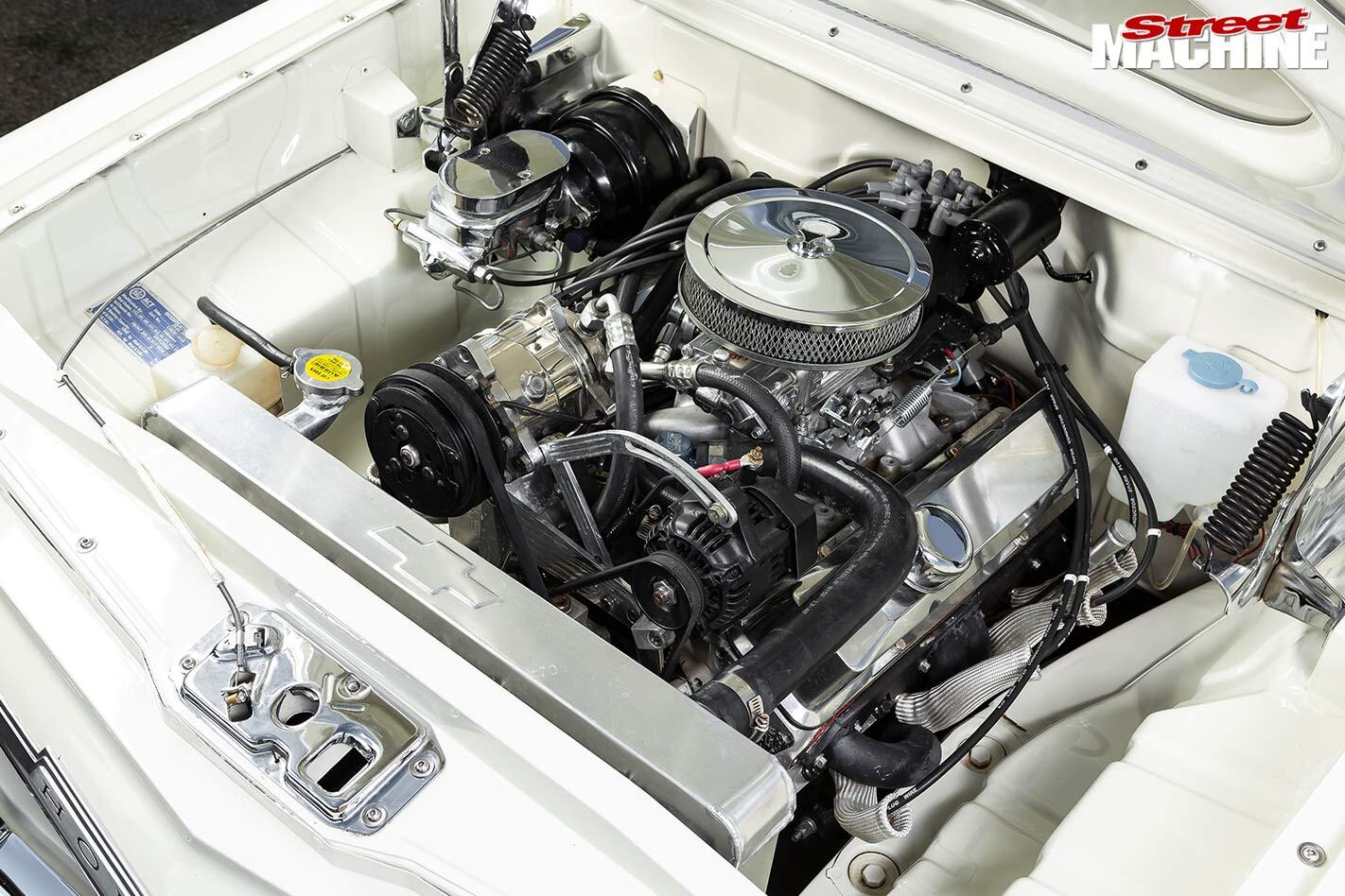 Holden EH panel van engine bay