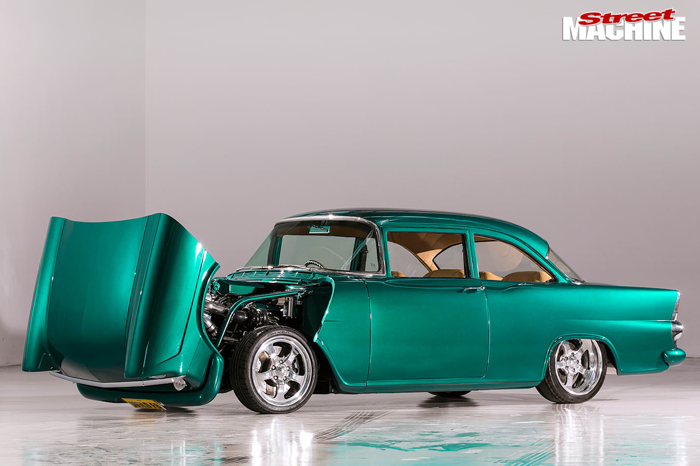 Holden FB bonnet up