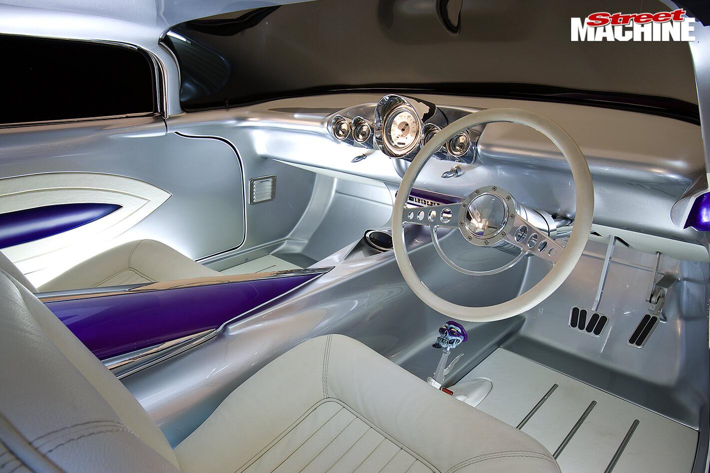 custom Caddillac interior front