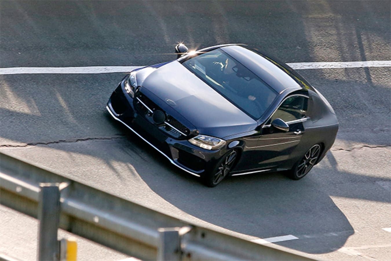 2015-Mercedes -C-Class -Coupe -Spy -top -track -32