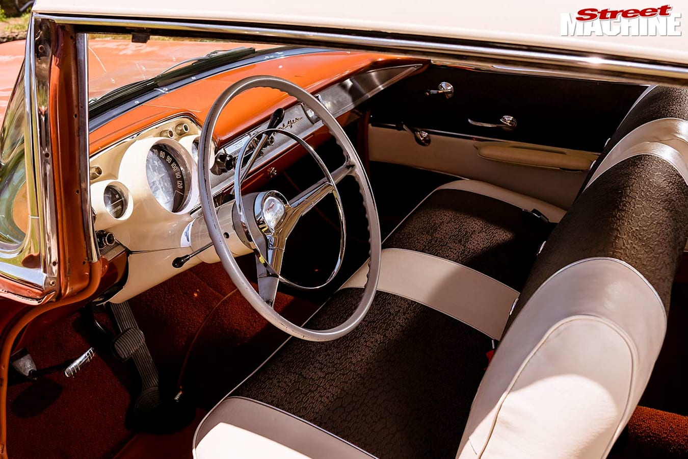 1957 Chev Bel Air interior front