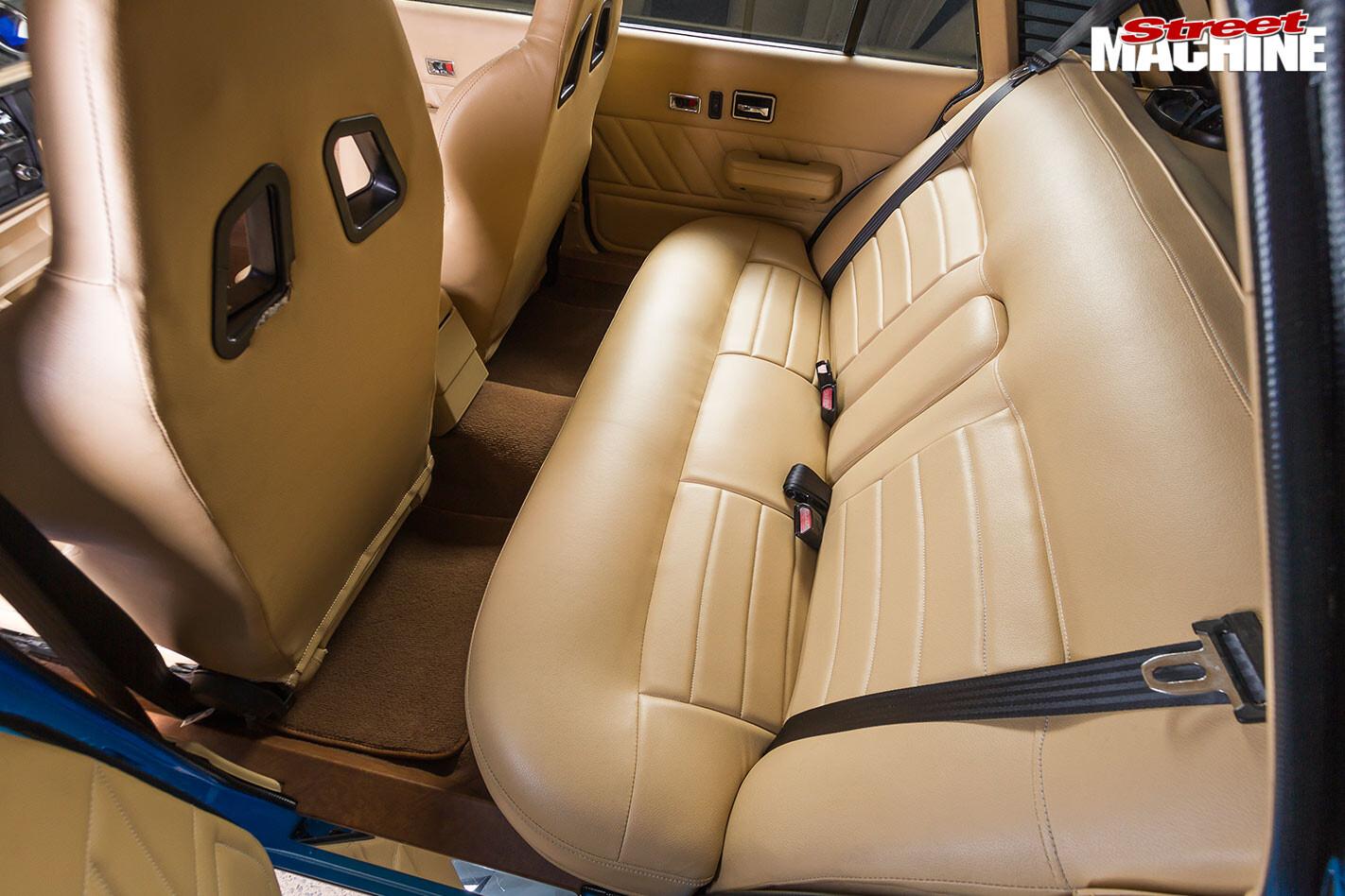 Holden VL Calais interior rear