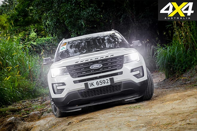 2016 Ford Explorer Sport front driving