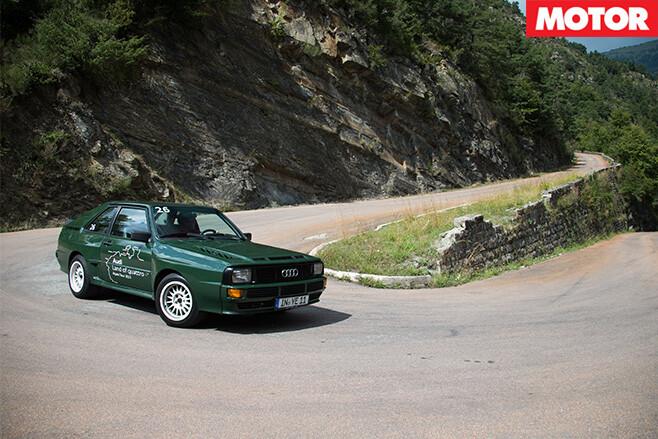 Audi sport quattro 1984 turning
