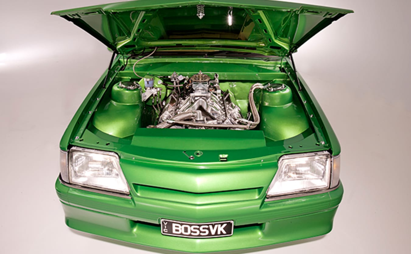 Holden VK Commodore engine bay
