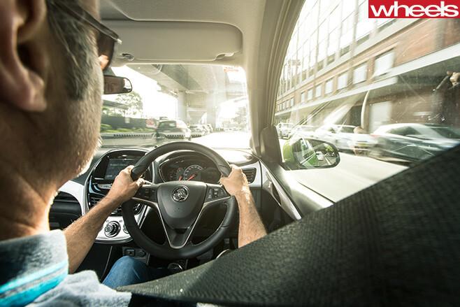 Holden -Spark -interior -driving
