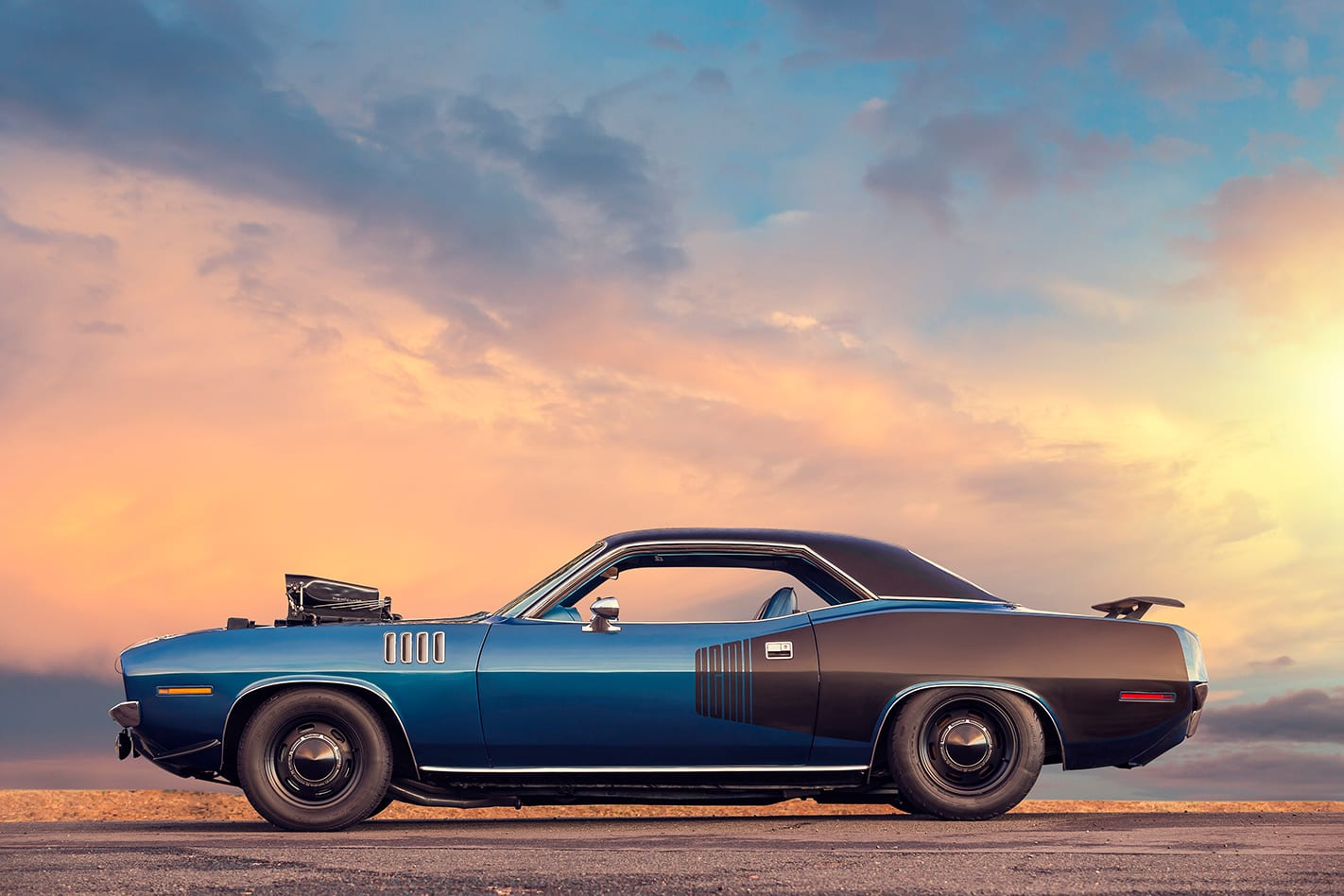 Plymouth -barracuda -side -view