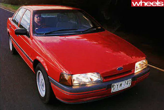 1989-ford -falcon -front -side -driving