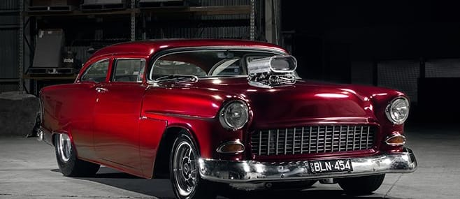 chev bel air front