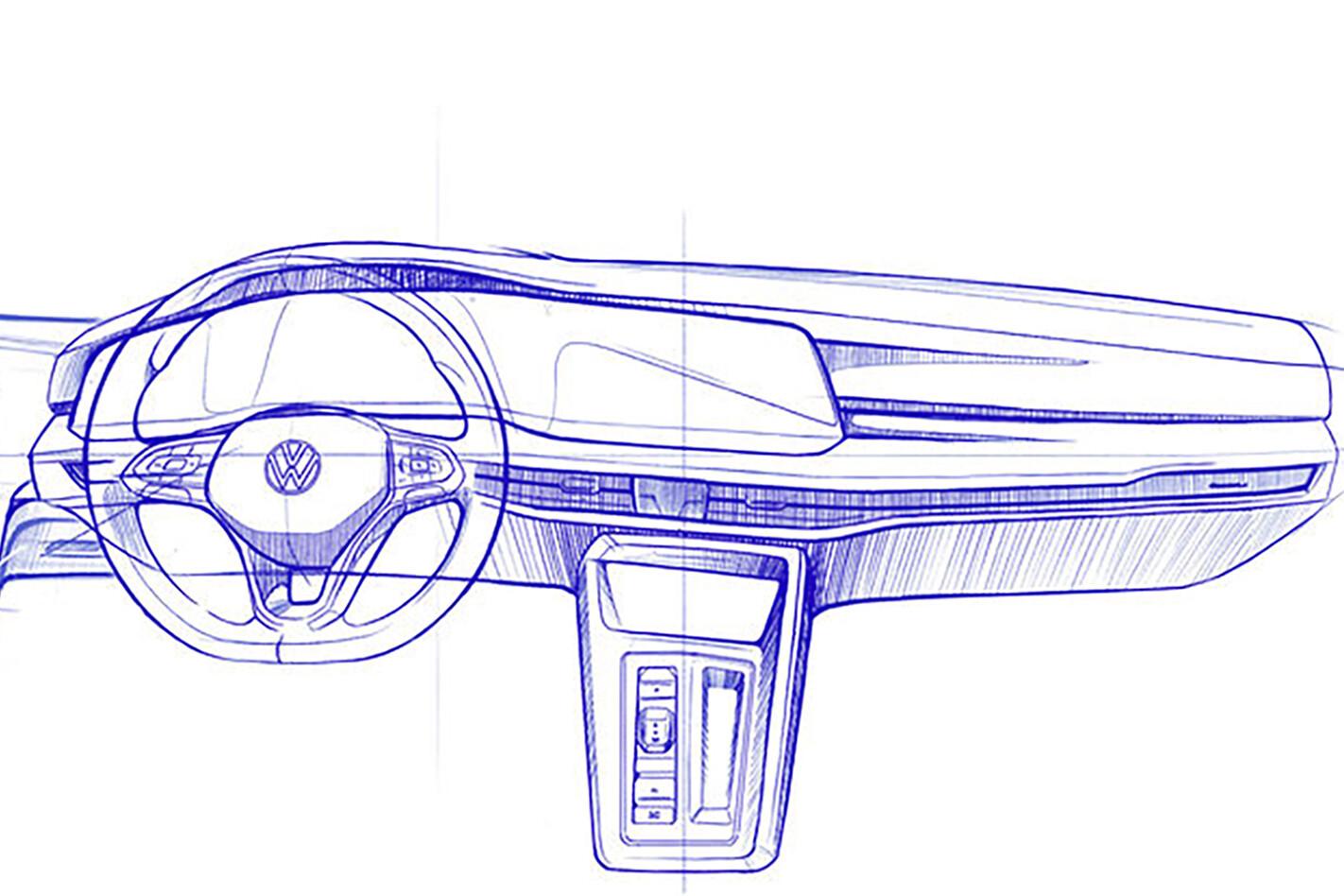 New VW Golf MK8 dash sketches