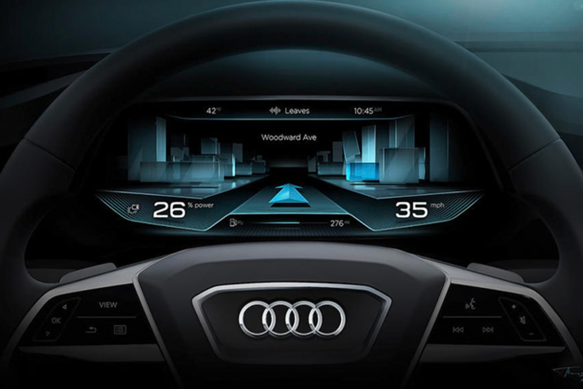 Audi A8 virtual dashboard