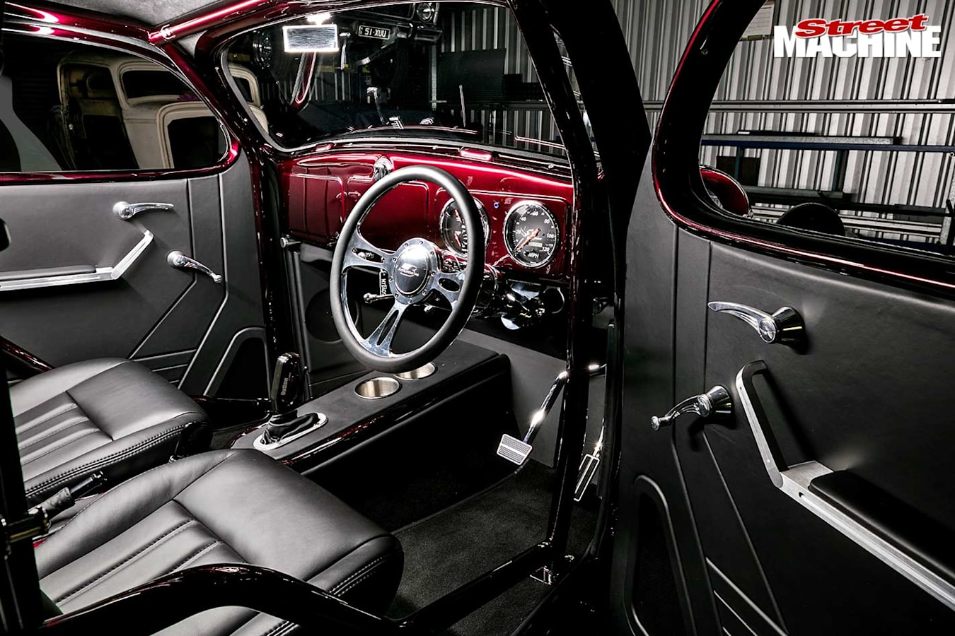 Plymouth coupe interior