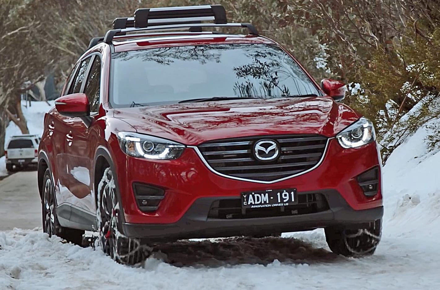 Mazda CX 5 Driving With Snow Tyres Jpg