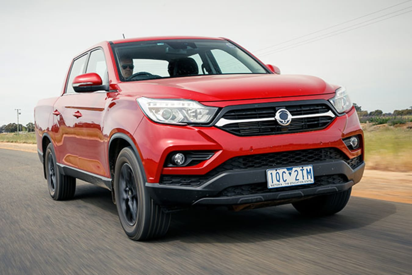 SsangYong Musso XLV Ultimate dynamic tracking front