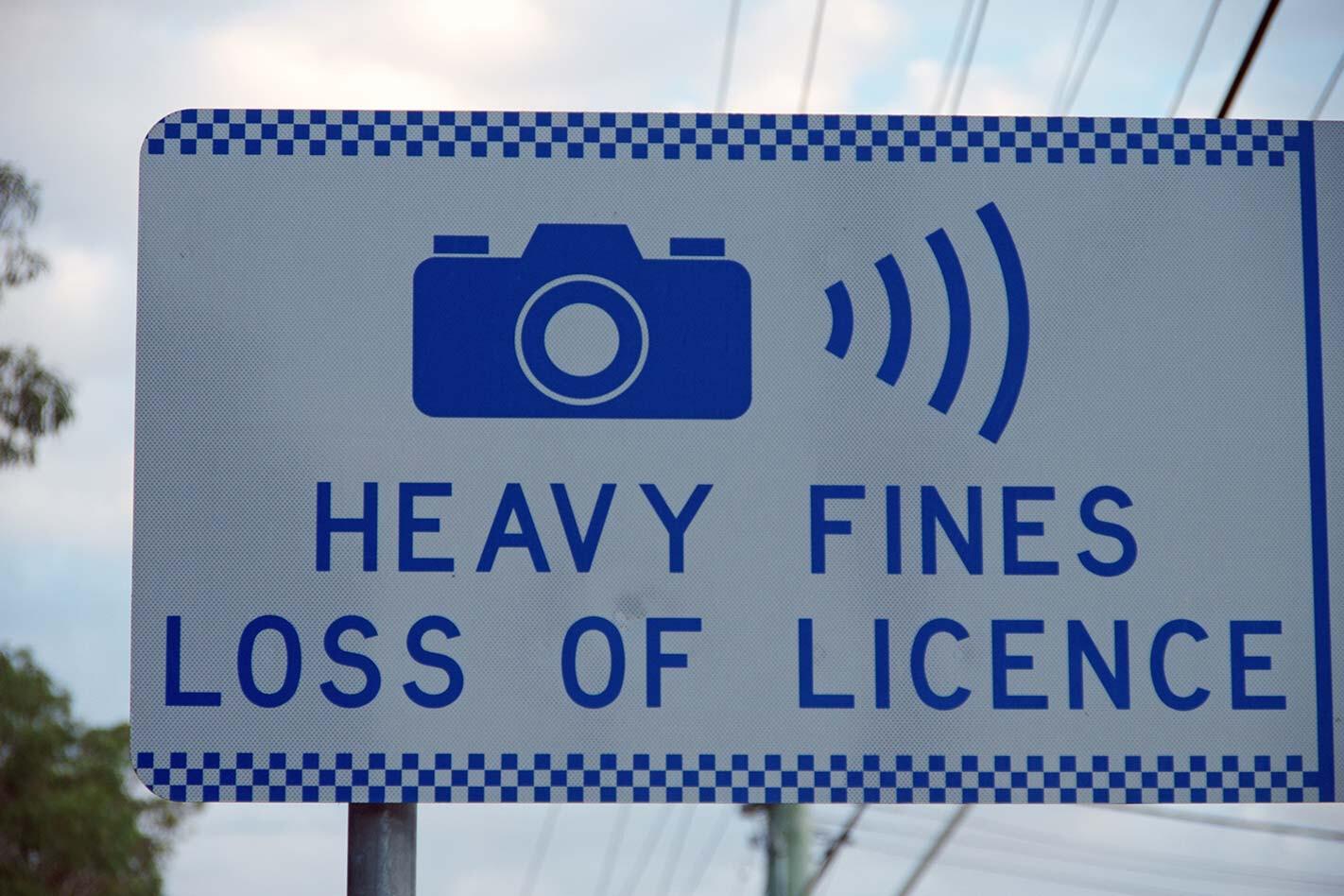 NSW speed camera warning sign\