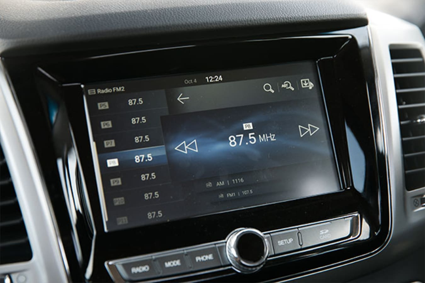 SsangYong Musso XLV Ultimate touchscreen