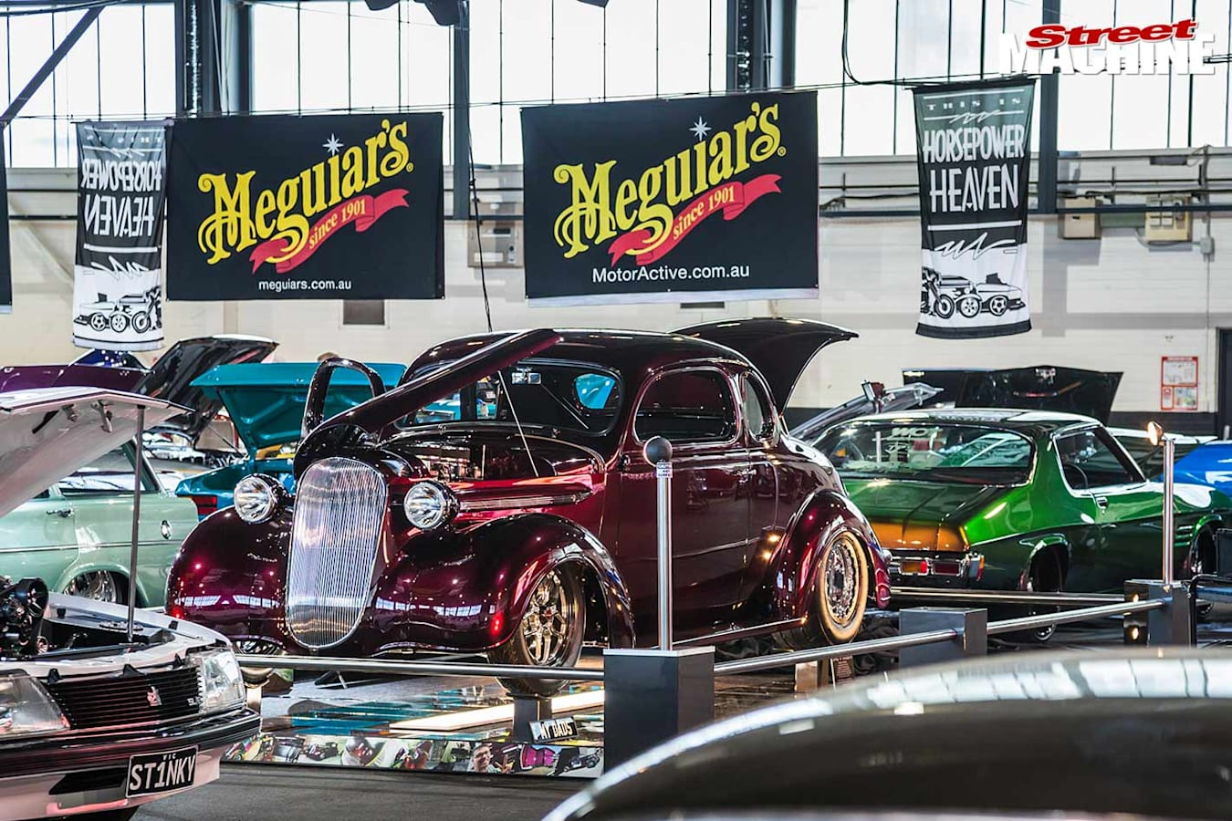 Plymouth coupe at Motorex