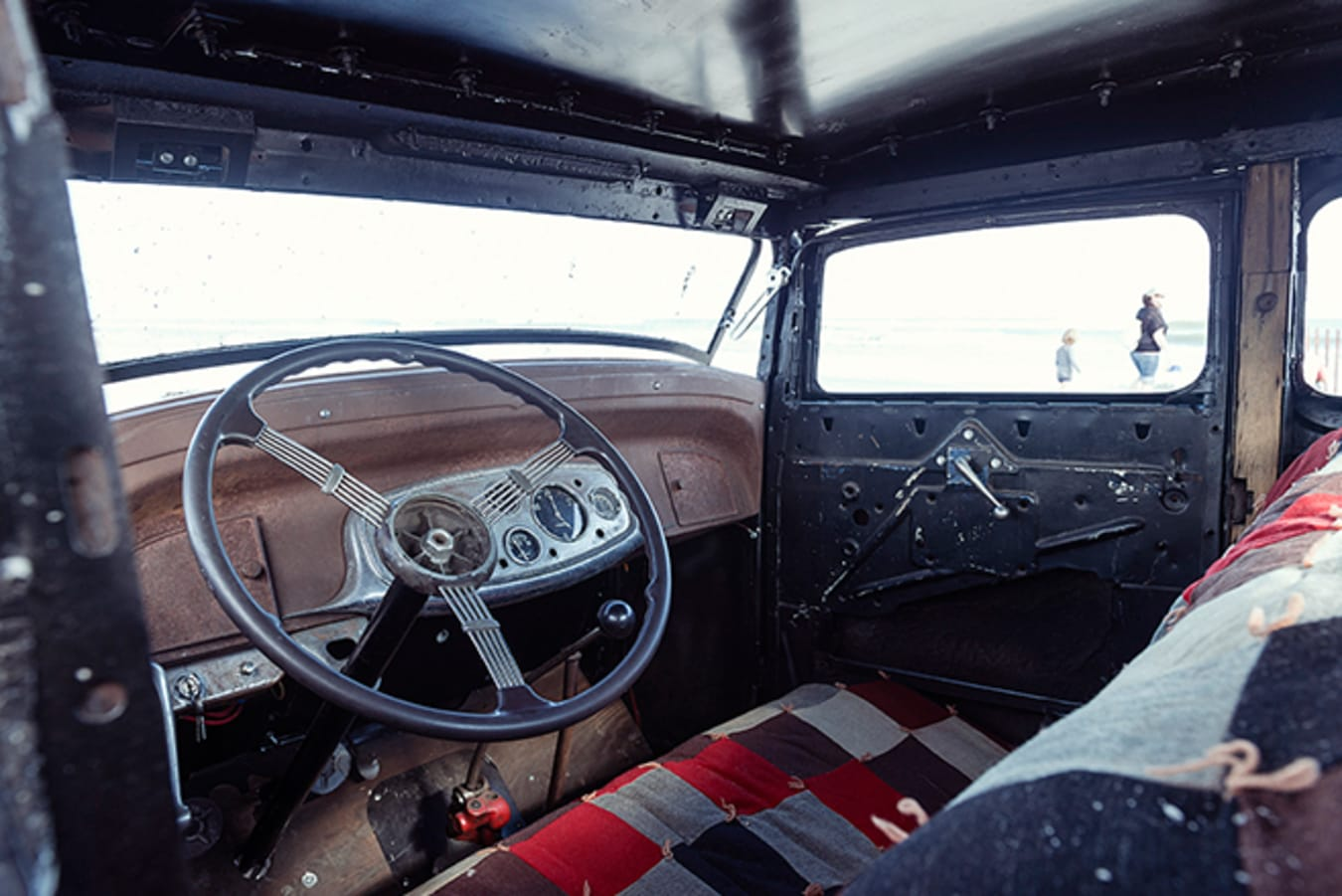 Ford 5 window coupe interior