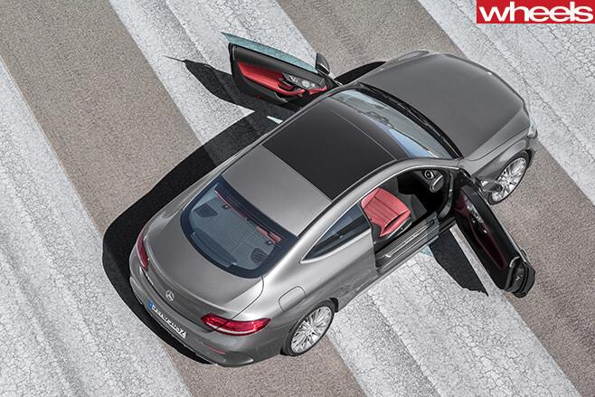 Mercedes -C-Class -Coupe -top -doors -open