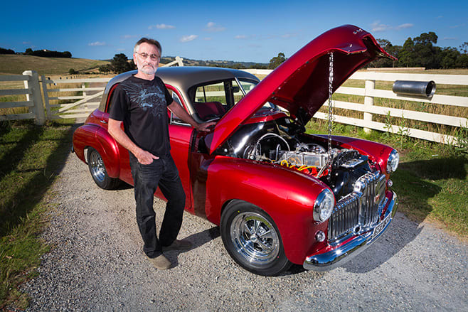 Andrew Brown and his 1951 FX Holden