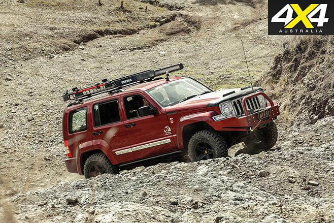 Custom Jeep cherokee Limited uphill driving