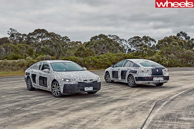 2018-Holden -Commodore -front -side -spied