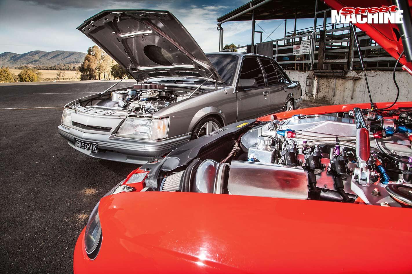 Holden engine bays