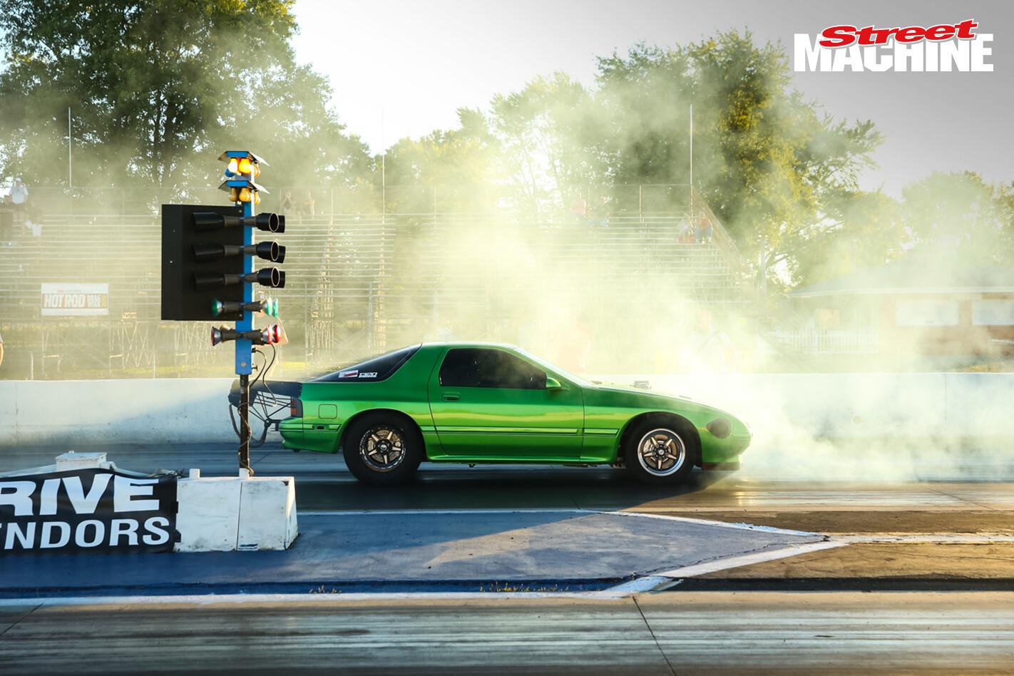 Mazda RX7 V8 Turbo Drag Week Rick Prospero
