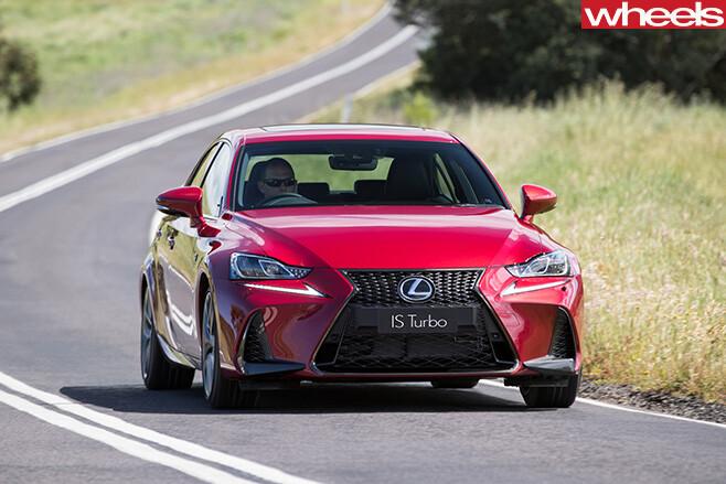 2017-Lexus -IS200t -driving -front