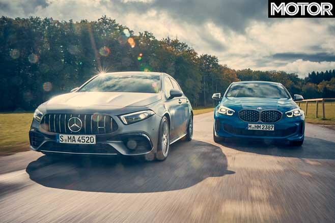 BMW M 135 I X Drive Vs Mercedes AMG A 45 S Comparison Drive Jpg