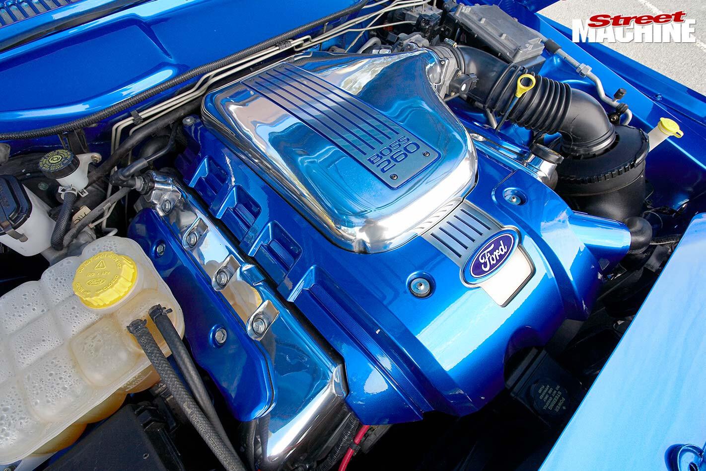 Ford F250 engine bay