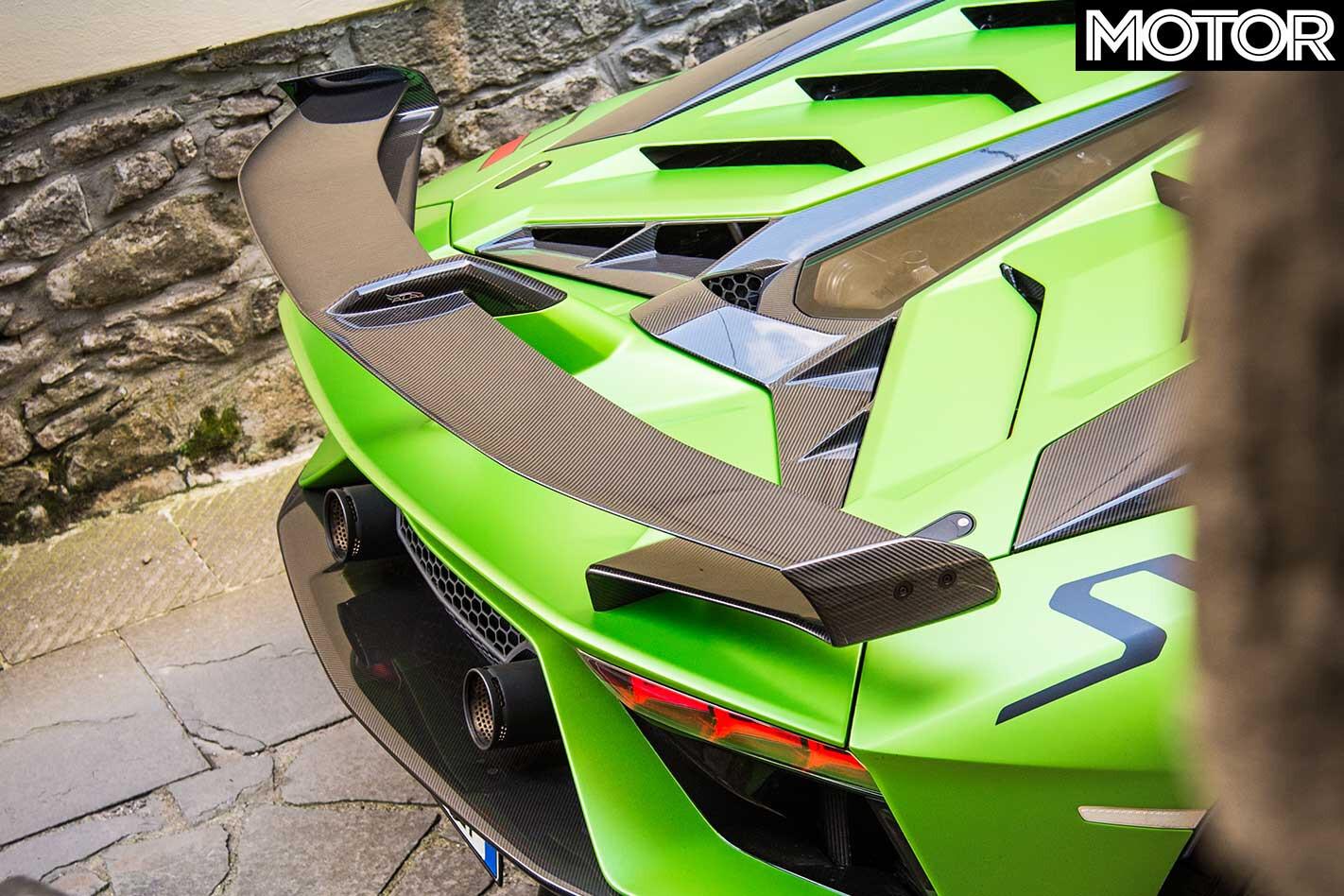 2019 Lamborghini Aventador SVJ Active Aero Rear Wing Jpg
